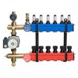 Nathan Komfort SBK 4501 vloerverwarmingsverdeler met instelbare en afleesbare debietmeters 1-groeps met bovenaansluiting 45010001