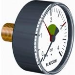 "Flamco Flexcon manometer 1/2"" - 80mm 0-4 bar axiaal met ventielhuls 27230"