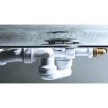 Viega Rotaplex rotaplex trio F vulcombinatie met visign-M1 afbouwdeel compleet voor afvoer 90mm met buisonderbreker chroom 651411